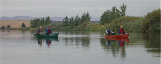 Lower Yakima River by Canoe