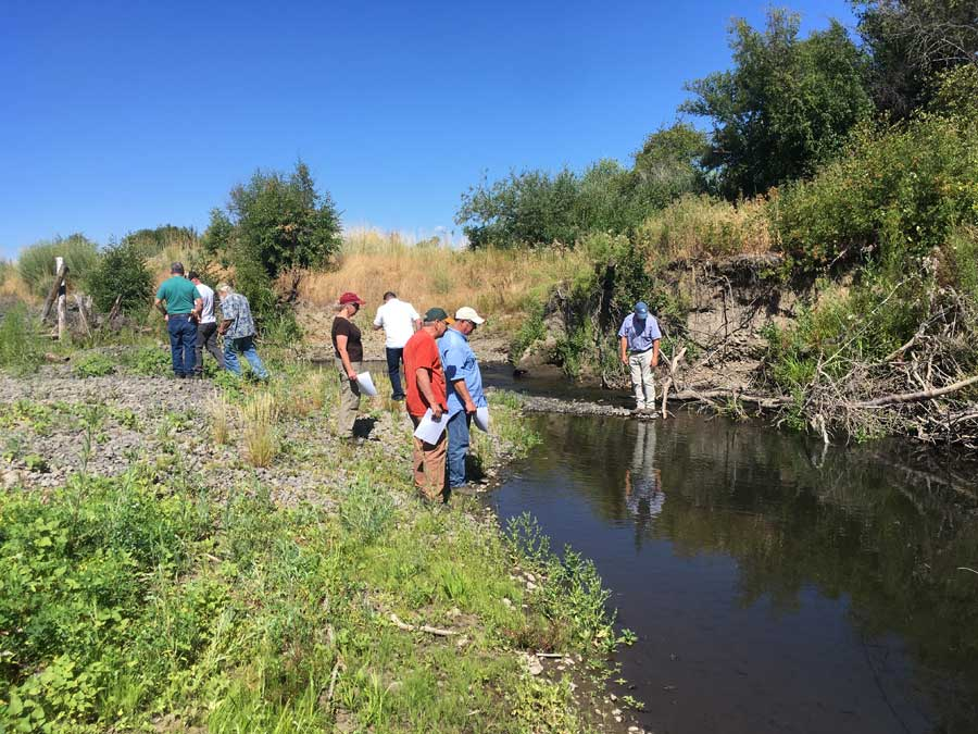 YBFWRB Board Members on a 2019 Tour with Yakama Nation
